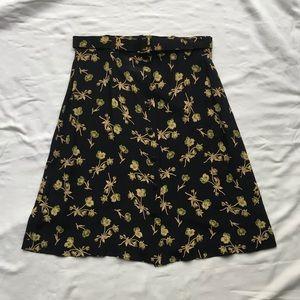 Banana Republic Floral Skirt & matching Belt